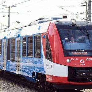 Водородният влак Coradia iLint потегля из Австрия