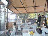 Горя пицария в центъра на Хасково