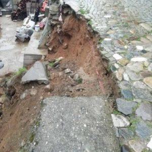 Започва ремонт на свлечената част от ул.