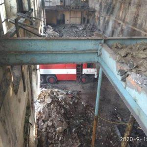 Пожар в Захарния комбинат в Пловдив